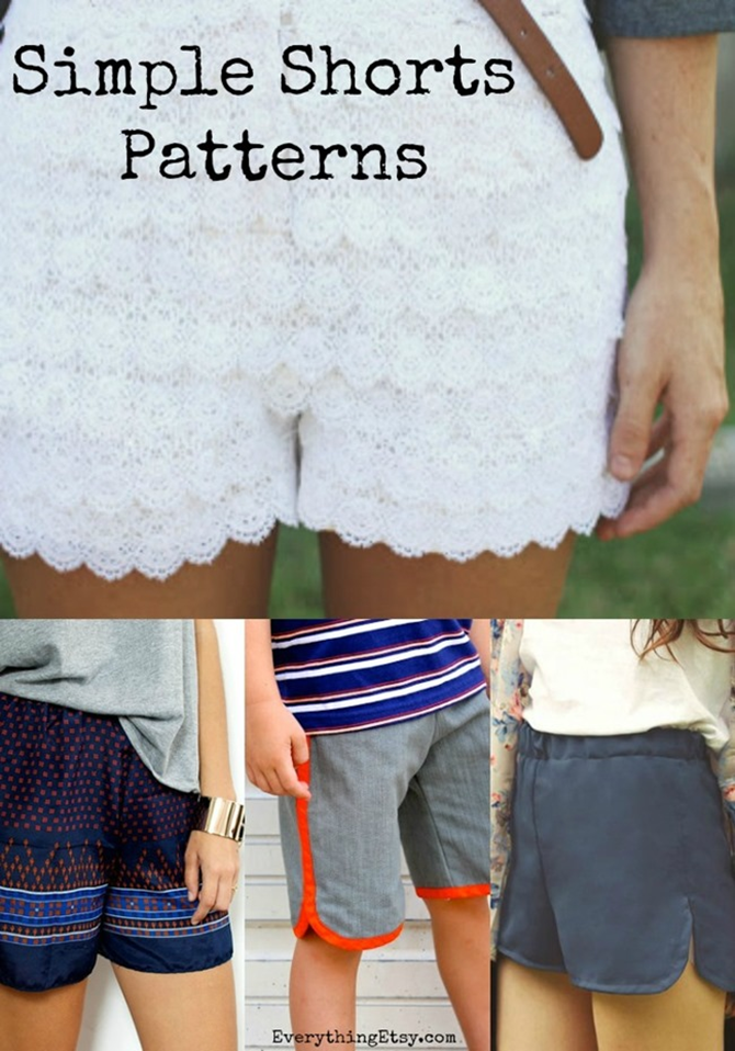Spring Shorts Sewing Tutorials - Free Patterns - EverythingEtsy