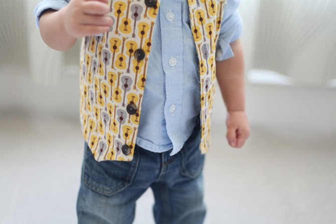 Spring Vest for Boys - Sewing Pattern - EverythingEtsy