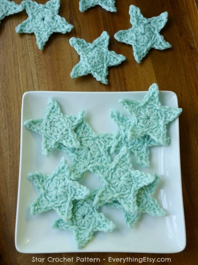 Crochet Star Patternfree Everythingetsy