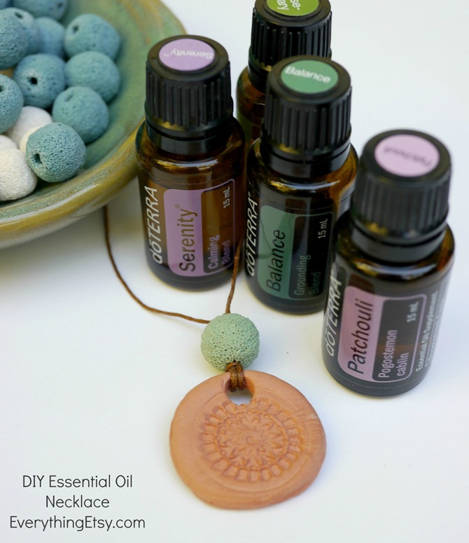 DIY Essential Oil Necklace - Aromatherapy Jewelry Gift - EverythingEtsy.com