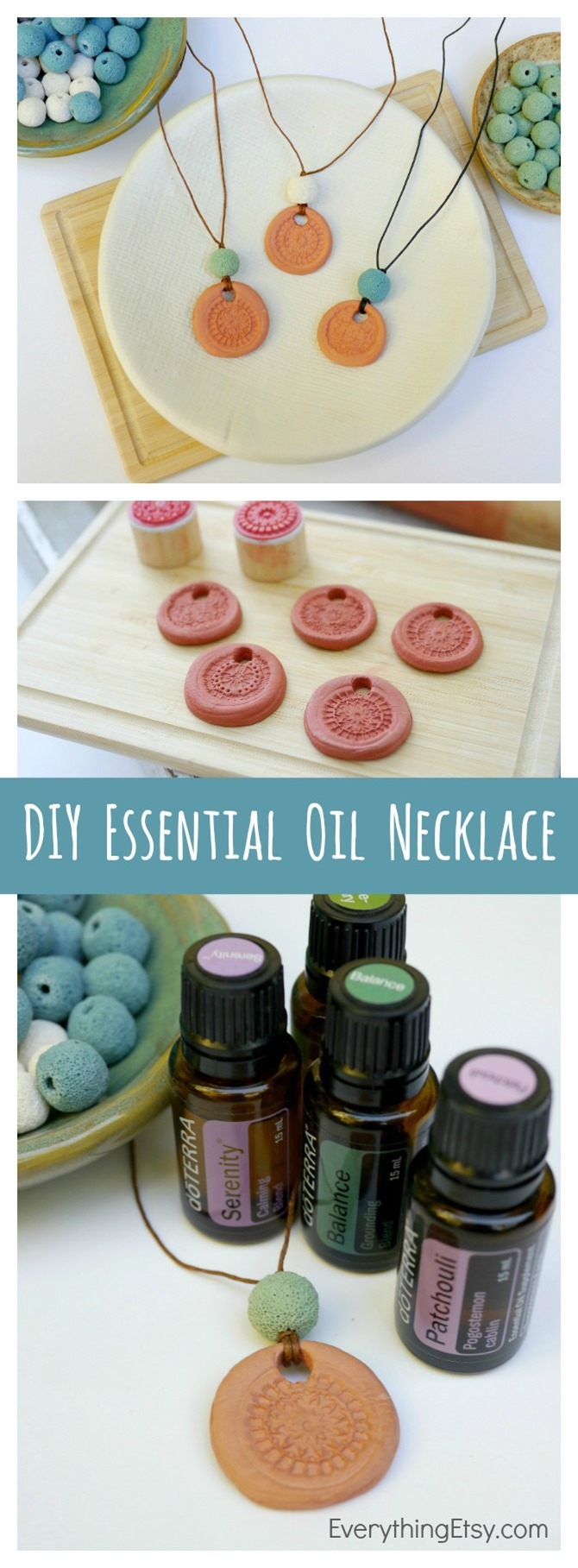 DIY Essential Oil Necklace Using doTERRA Essential Oils - EverythingEtsy.com