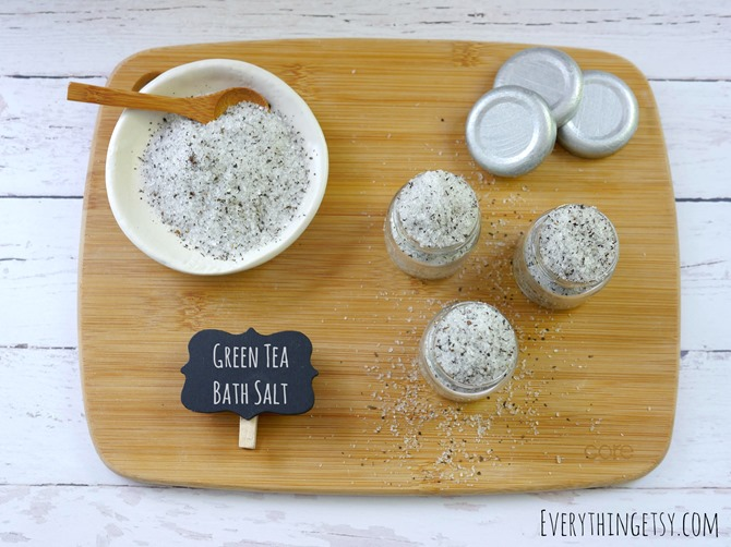 DIY Green Tea Bath Salt - Gift for Her - EverythingEtsy.com
