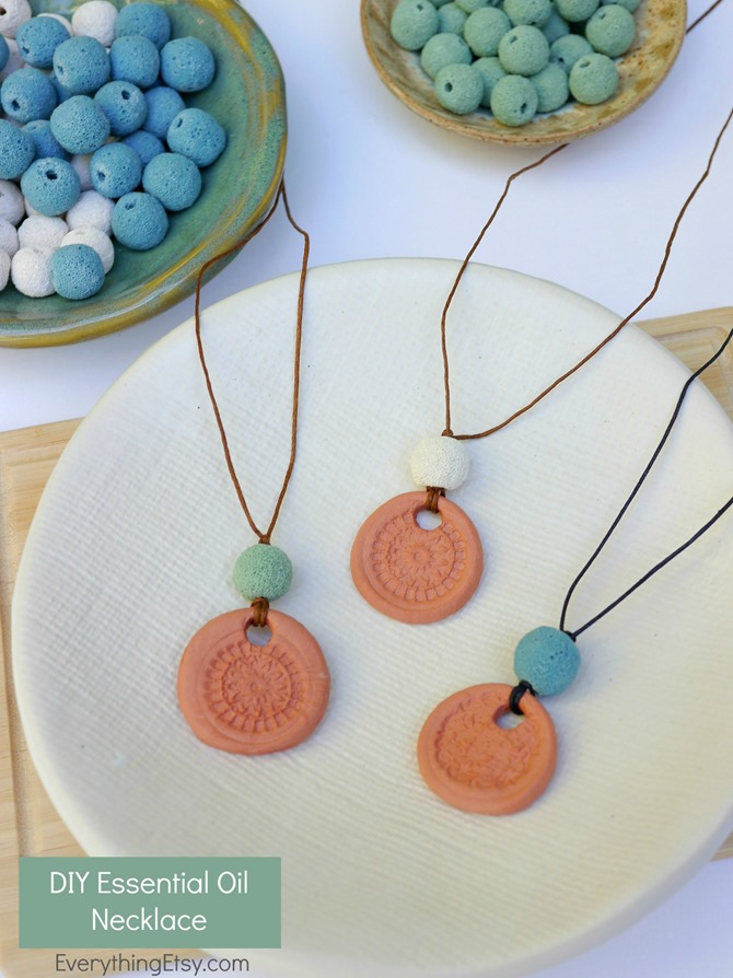 DIY doTERRA Essential Oil Aromatherapy Necklace - Tutorial on EverythingEtsy.com