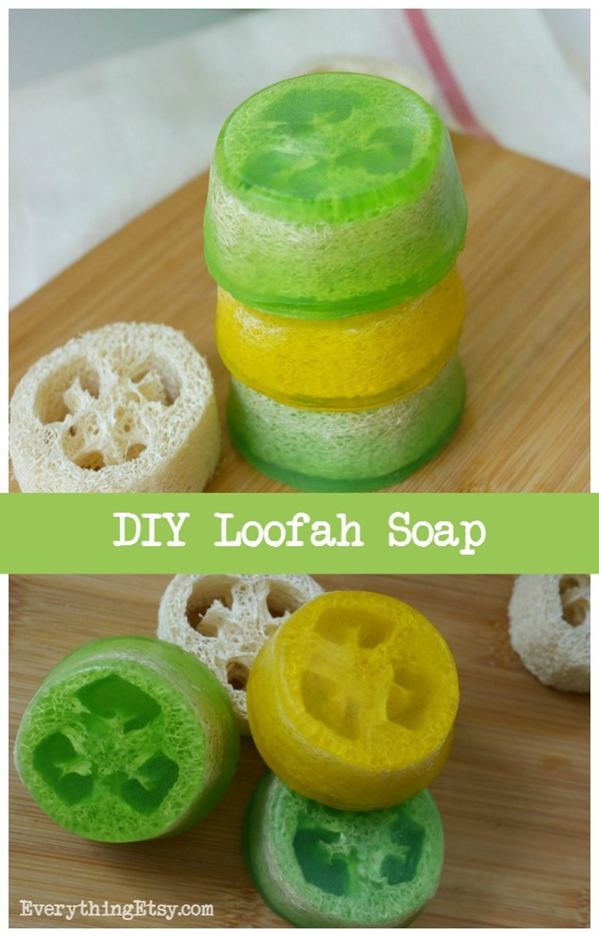 DIY Loofah Soap - Easy Gift Idea on EverythingEtsy.com