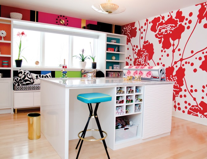 craft room inspiration - red
