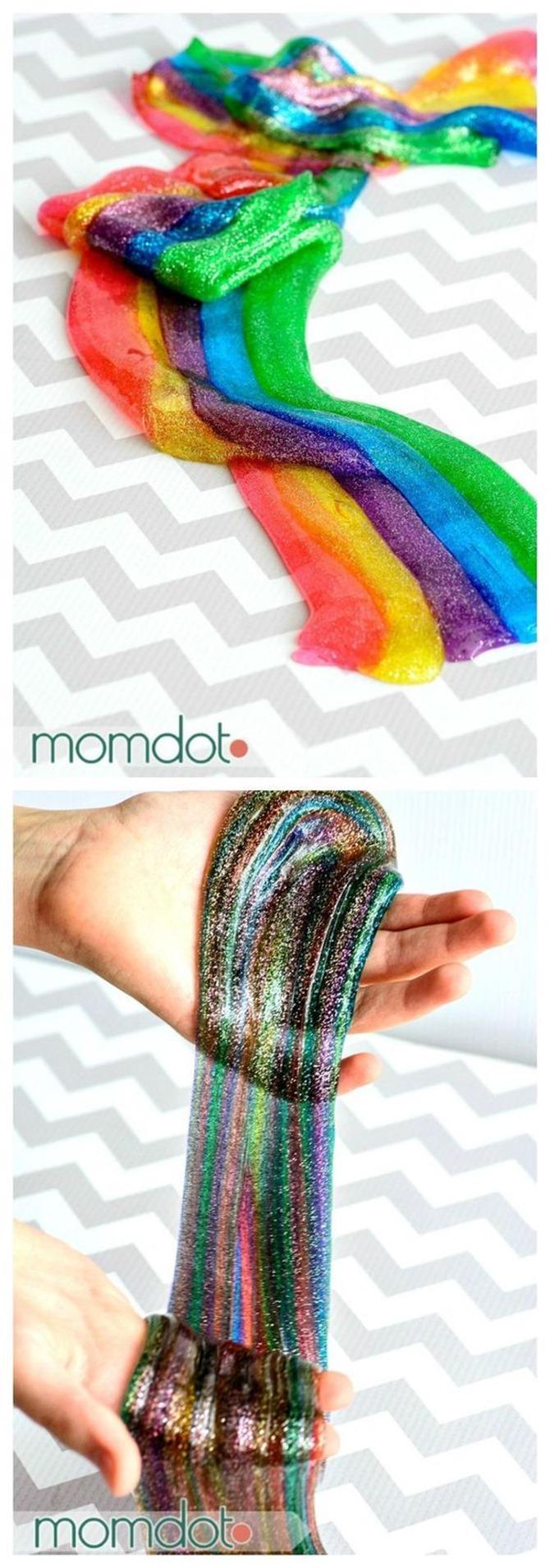 12 DIY Slime Recipes - Rainbow Tutorial