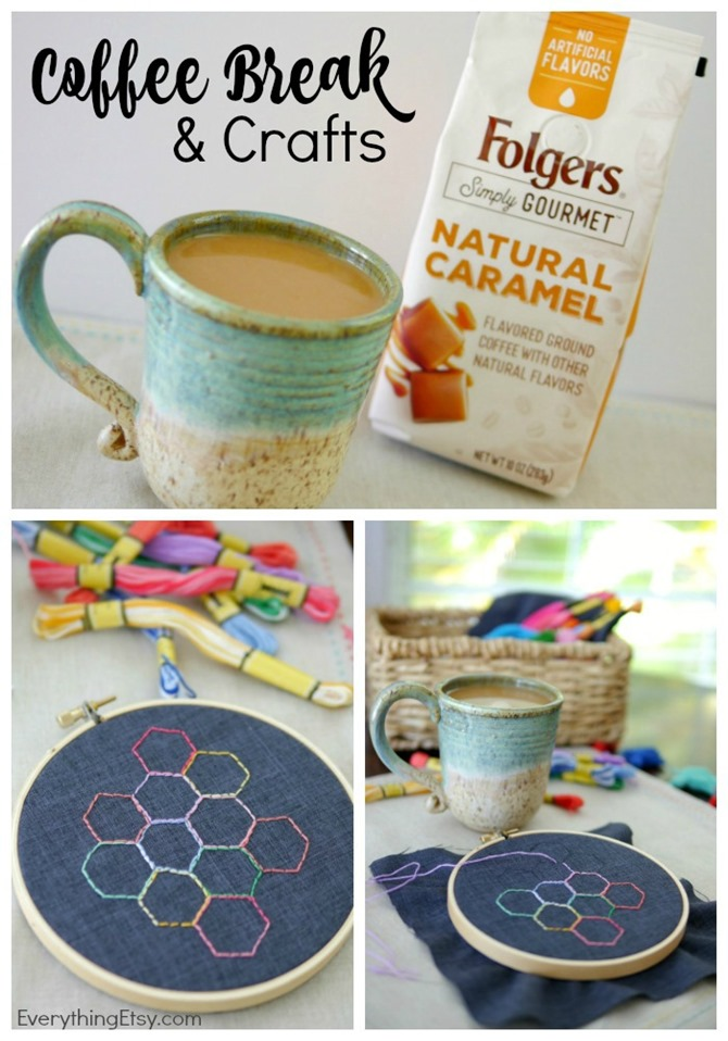 Coffee & Crafts - Take a Break with Folgers Simply Gourmet Coffee - EverythingEtsy.com