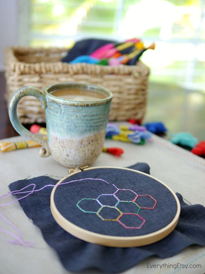 Coffee & Embroidery - EverythingEtsy.com - Foldgers