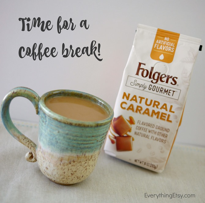 Foldgers Simply Gourmet Coffee - Time for a Coffee Break! - EverythingEtsy.com