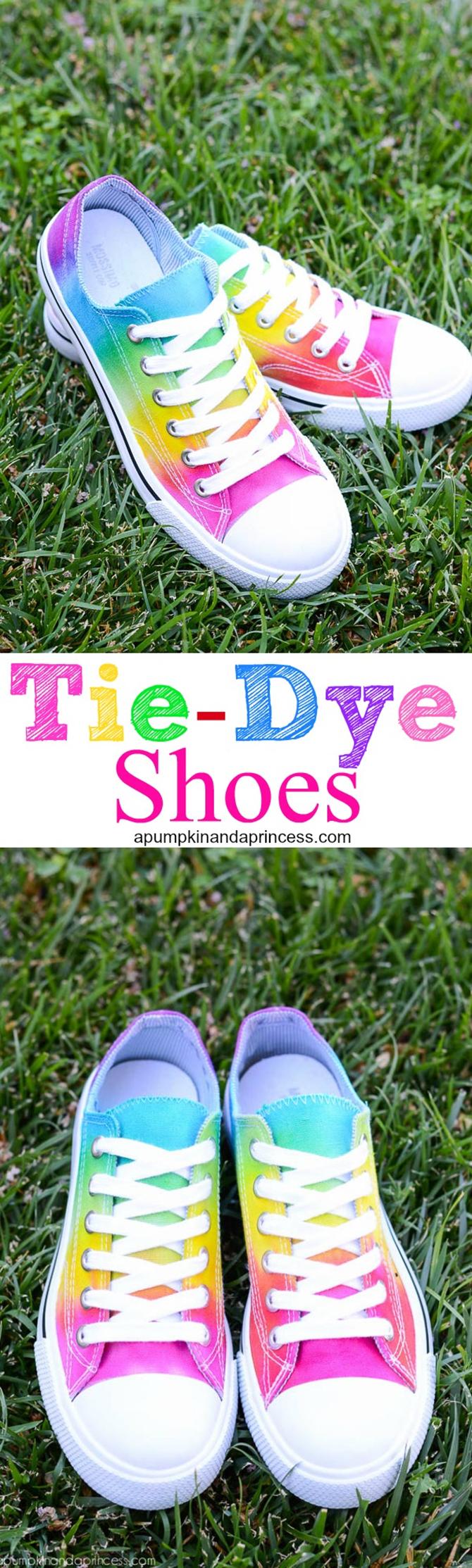 DIY Tennis Shoes - Tie Dye - EverythingEtsy
