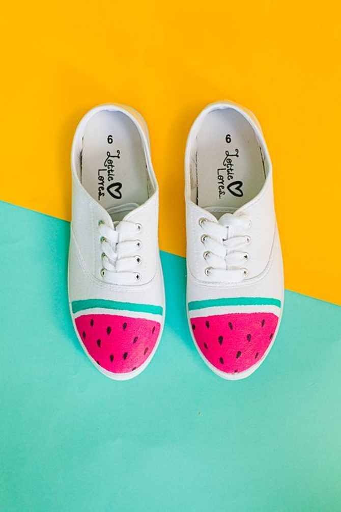 DIY Tennis Shoes - Watermelon - EverythingEtsy