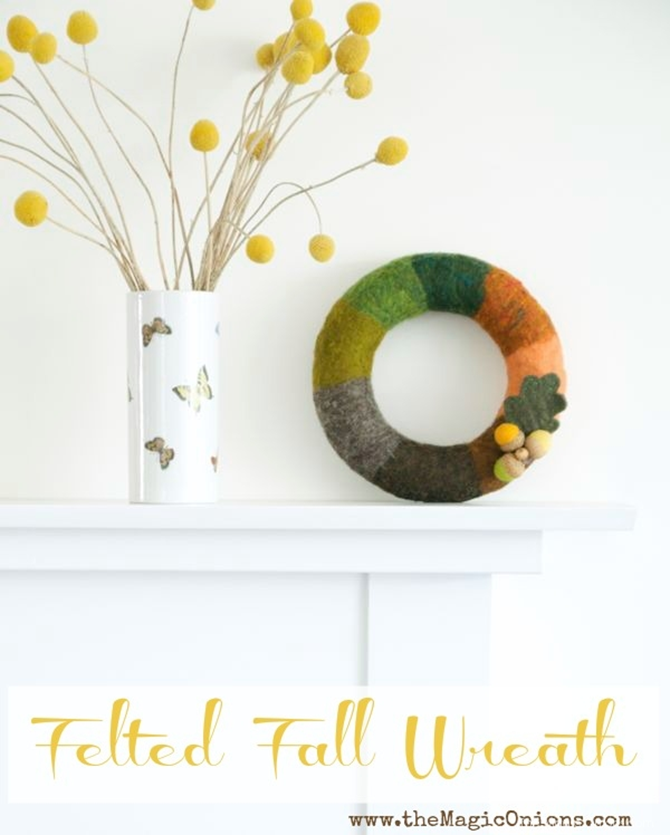 21 Fall Wreath Ideas - Felted - EverythingEtsy
