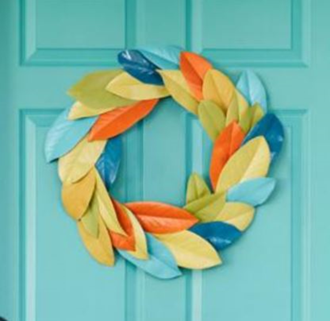 21 Fall Wreath Ideas - Magnolia Leaves - EverythingEtsy