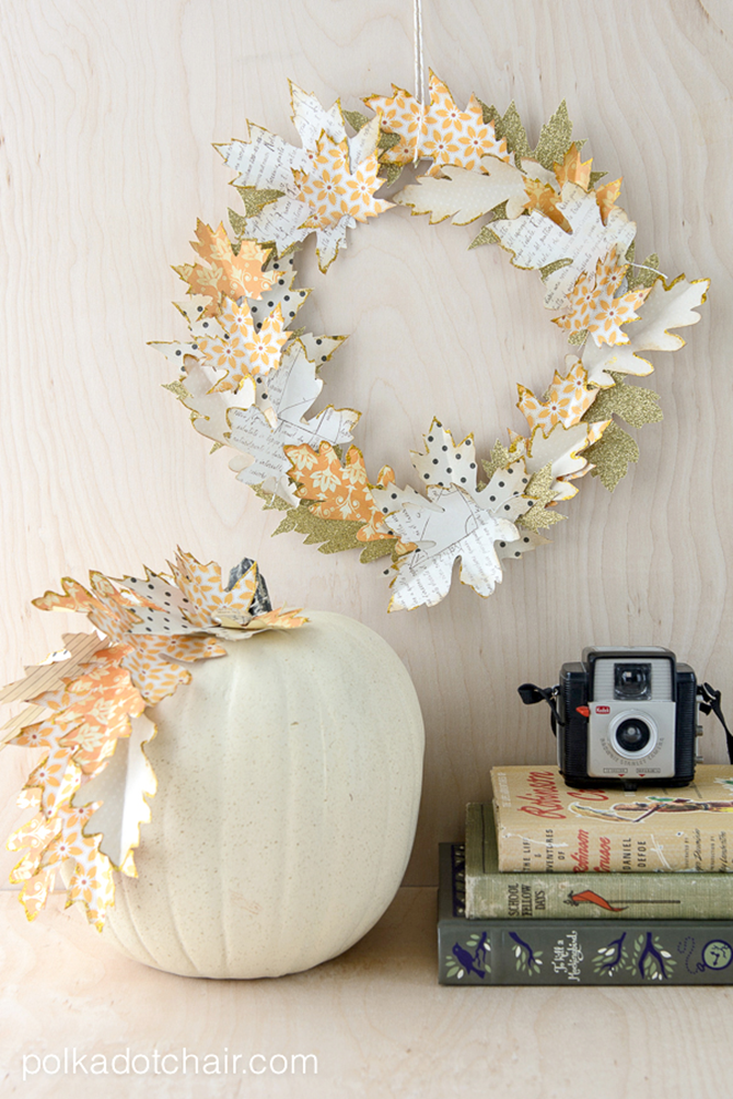 21 Fall Wreath Ideas - Paper Leaves - EverythingEtsy