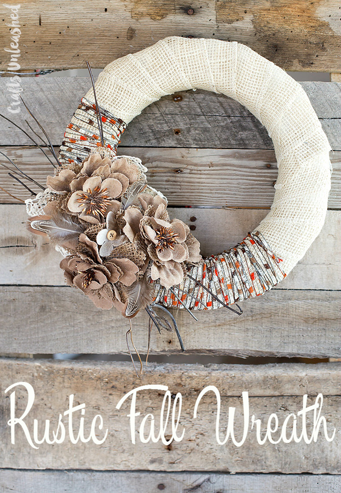 21 Fall Wreath Ideas - Rustic - EverythingEtsy