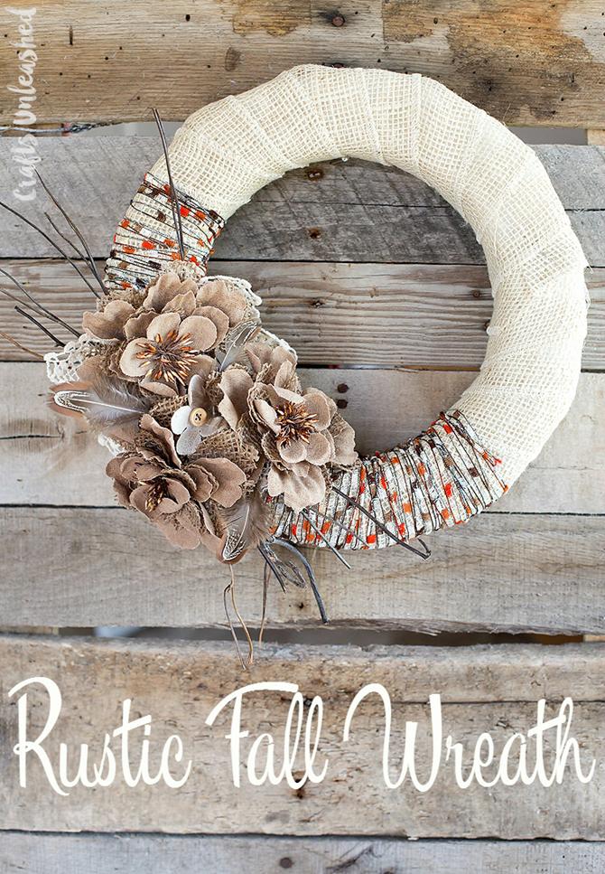 21 Fall Wreath Ideas - Rustic - EverythingEtsy