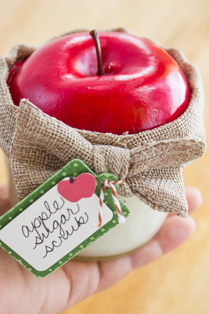 Fall DIY Gift Ideas - Apple Sugar Scrub - EverythingEtsy