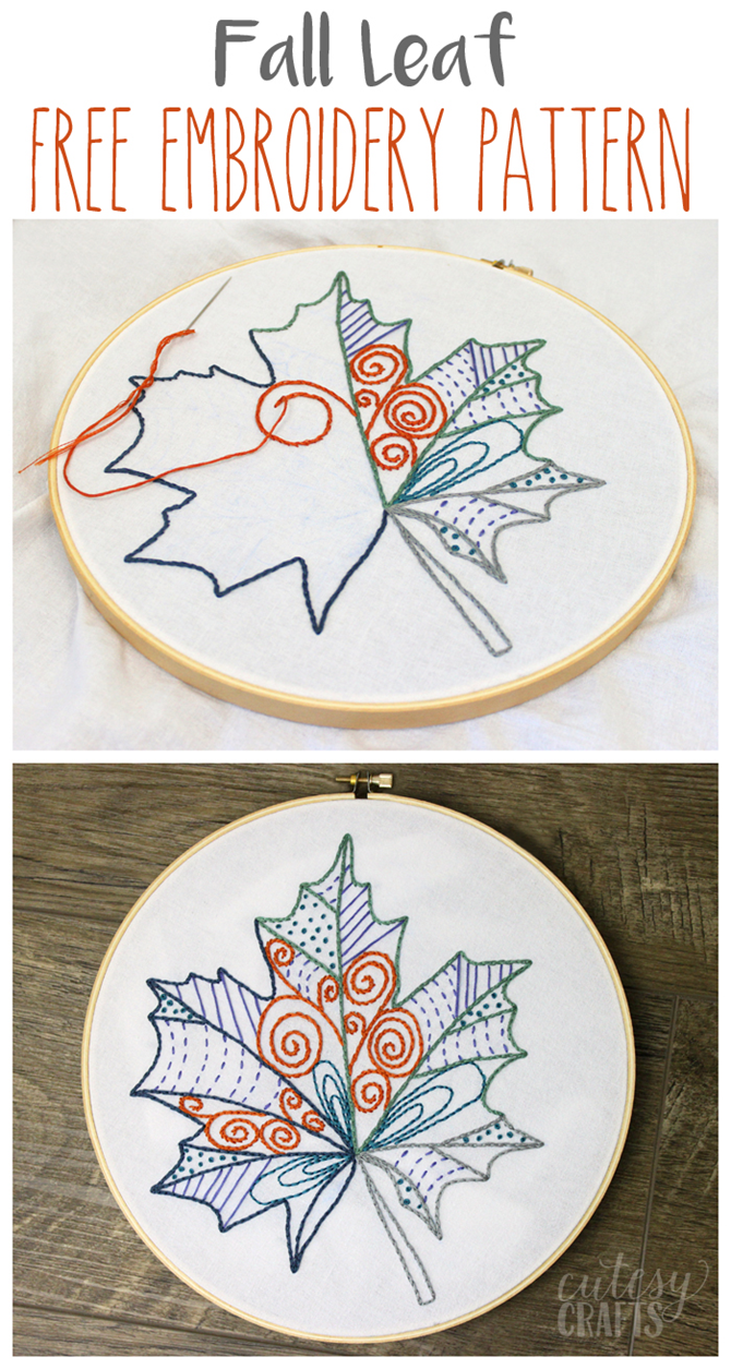Fall DIY Gift Ideas - Free Embroidery Hoop Pattern - EverythingEtsy