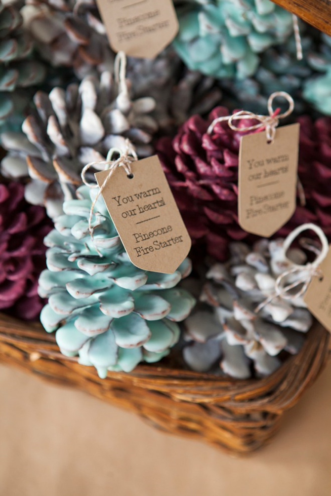 Fall DIY Gift Ideas - Pine Cone Fire Starters -EverythingEtsy