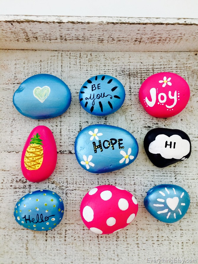 painted rocks by Kim