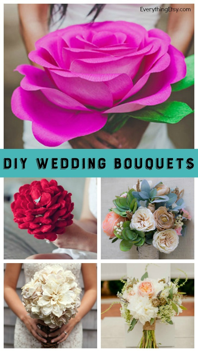 DIY Wedding Bouquets - 10 Beautiful Tutorials! EverythingEtsy.com