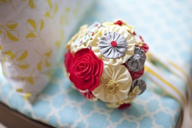 DIY Wedding Bouquets - Handmade Fabric Flowers