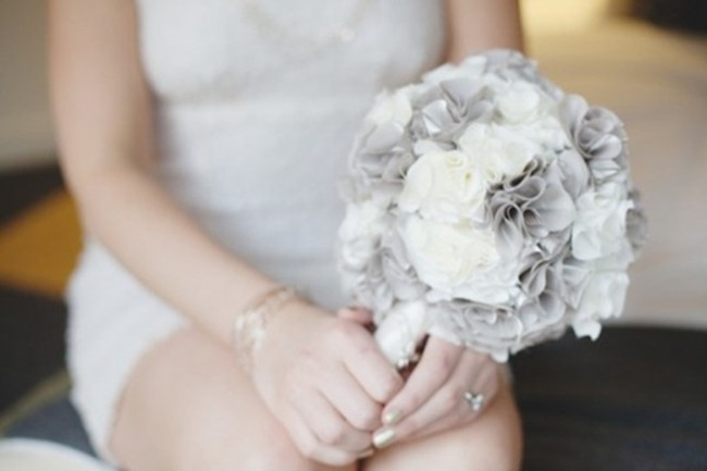 DIY Wedding Bouquets - Modern Fabric Flowers