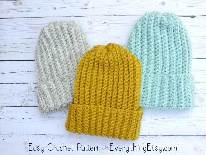 5994383287b Easy Crochet Hat–Free Pattern - EverythingEtsy.com