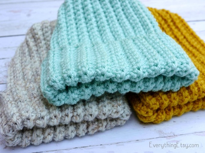 Easy Crochet Hat Pattern - Free - EverythingEtsy.com