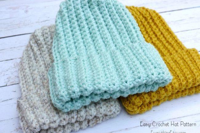 Easy Crochet Hat–Free Pattern