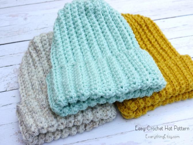 Easy Crochet HatFree Pattern EverythingEtsy Cool Crochet Hat Pattern Free