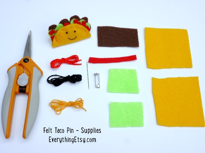 Felt Taco Pin Supplies - EverythingEtsy.com
