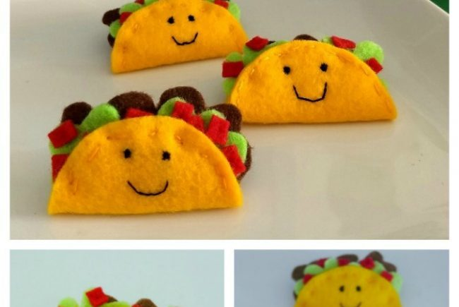 Felt Taco Pins Tutorial {Felt Flair Goodness}