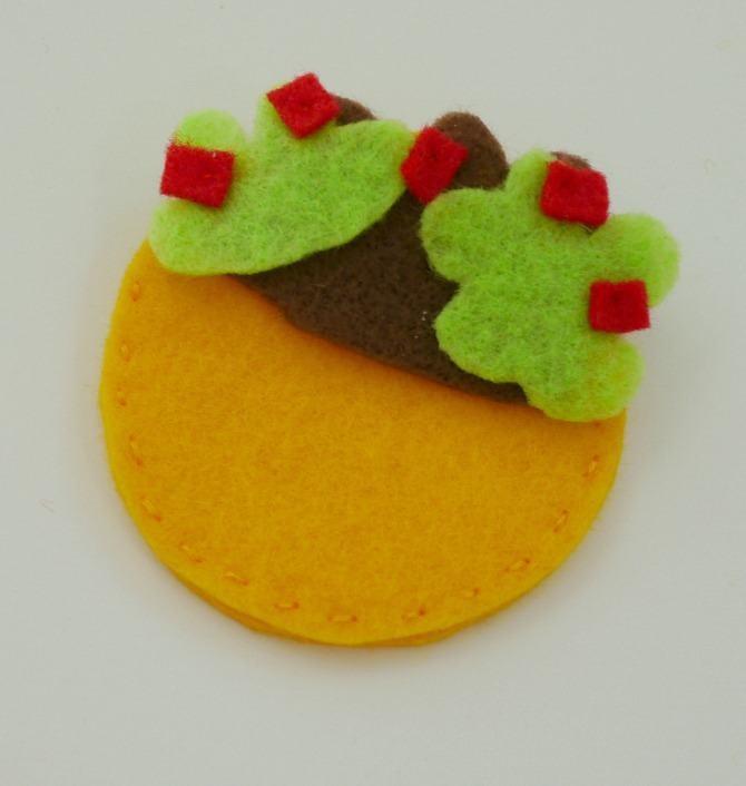 Felt Taco Pins - Stack it - EverythingEtsy.com