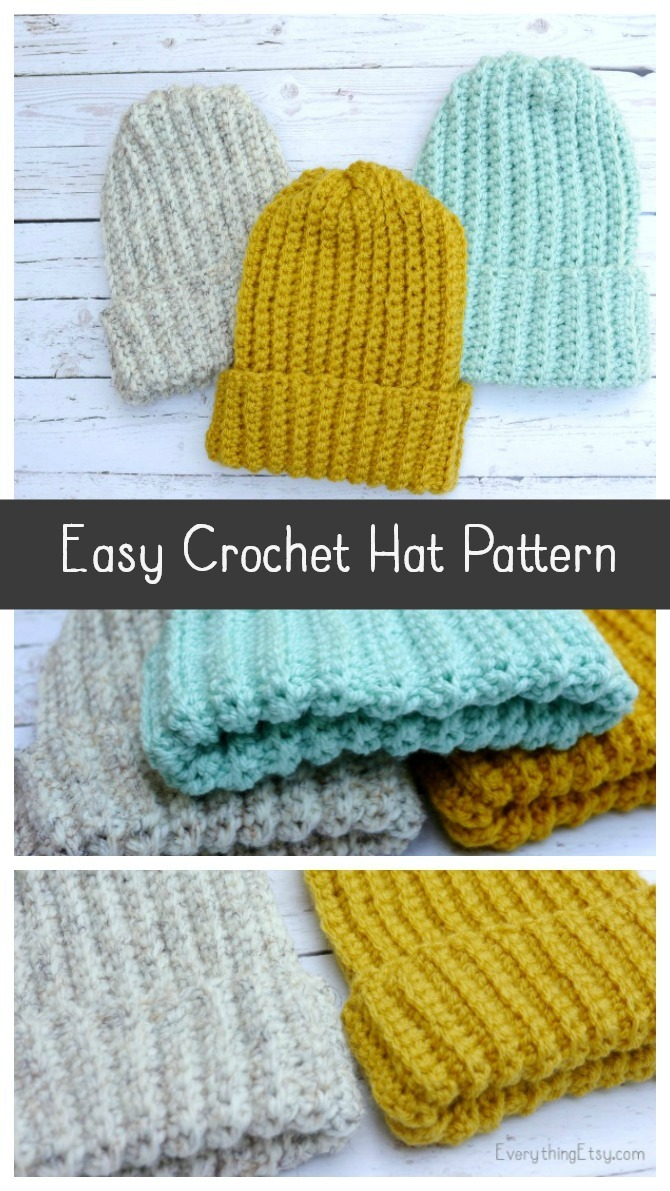 Easy Crochet Hatfree Pattern Everythingetsycom