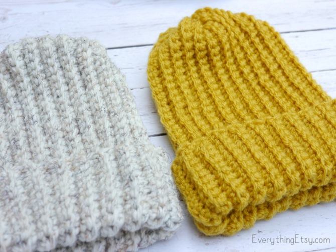 Free Crochet Pattern - Simple Crochet Hat - EverythingEtsy.com