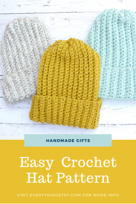 Easy Crochet Hat Pattern - Free
