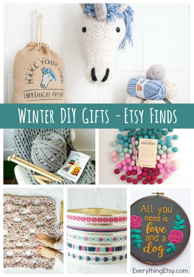 Winter DIY Gifts - Etsy Finds - The perfect projects for snow days - EverythingEtsy.com