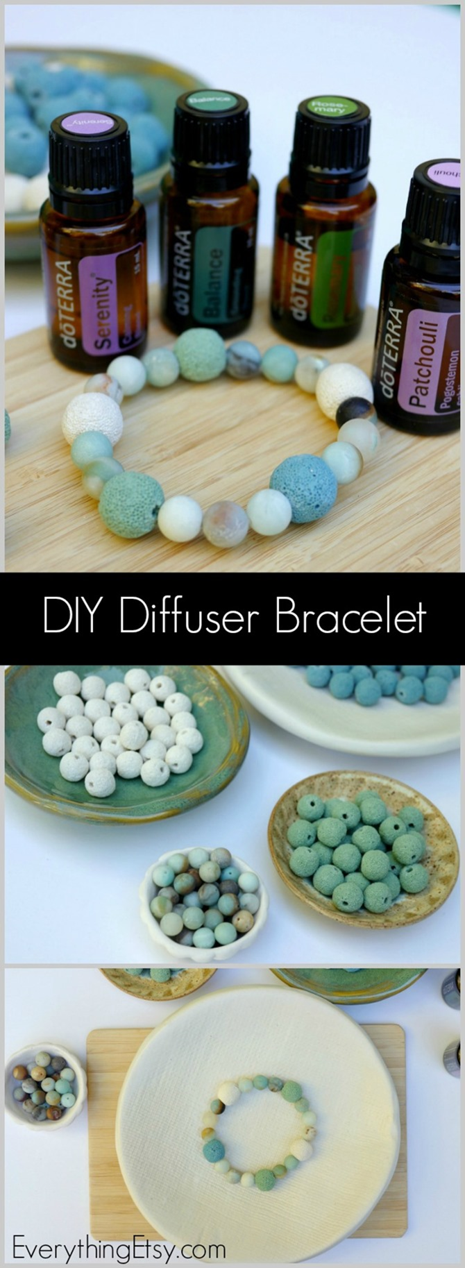 DIY Diffuser Bracelet - Tutorial and resources on EverythingEtsy