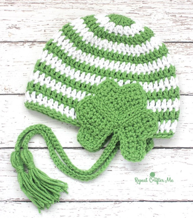 St. Patrick's Day Free Crochet Pattern - Hat