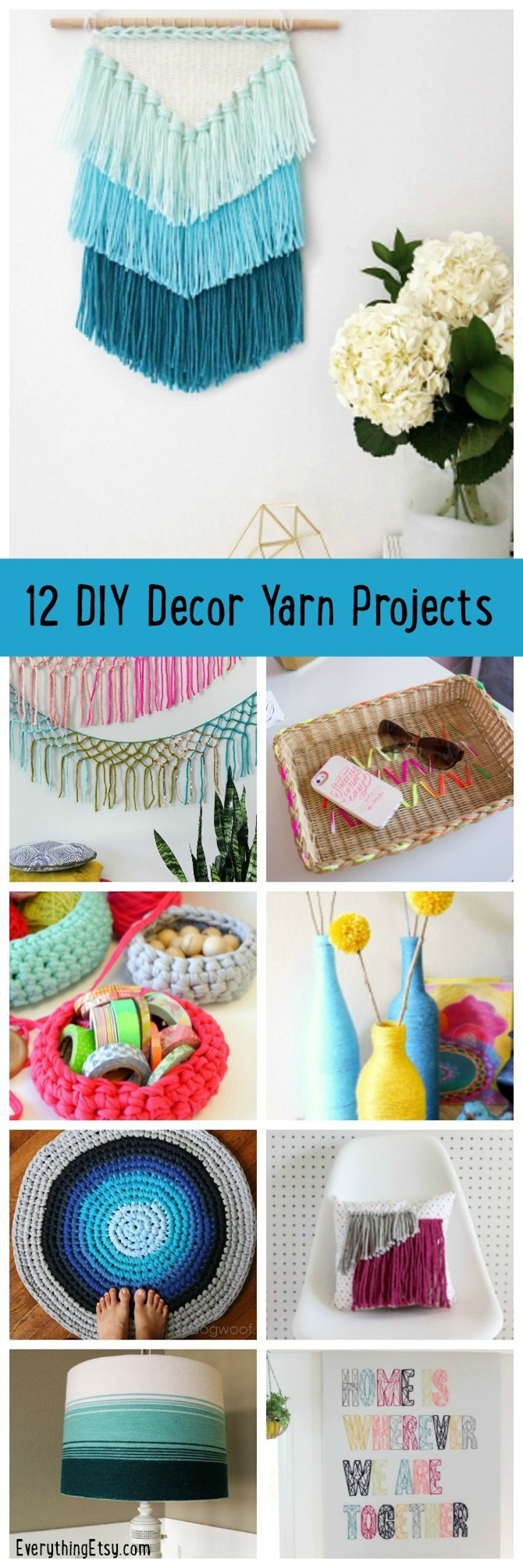 12 DIY Decor Yarn Projects - EverythingEtsy.com