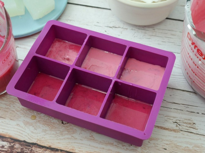 DIY Gemstone Soap - Pour into Mold