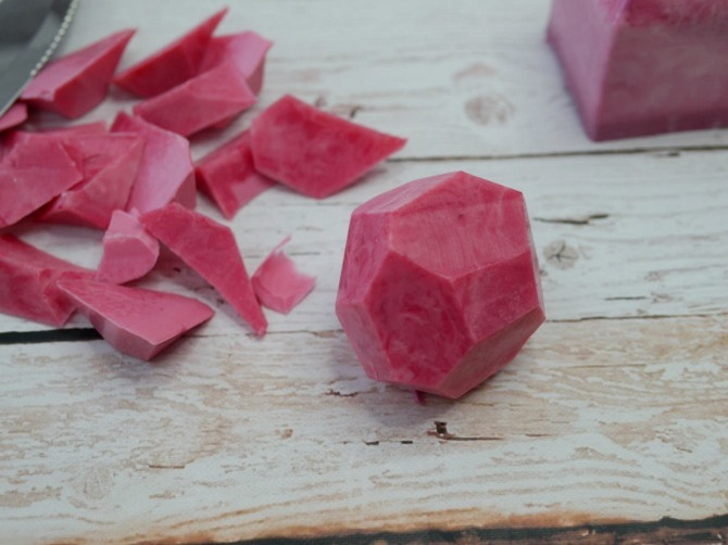 DIY Gemstone Soap - Shape it