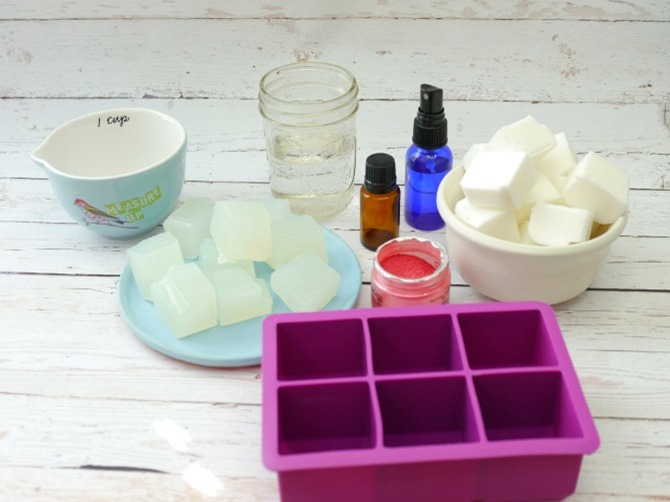 DIY Gemstone Soap Supplies