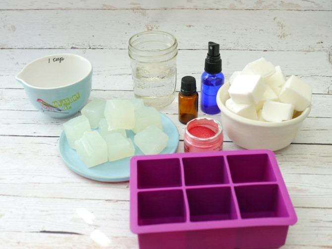 DIY Gemstone Soap Supplies