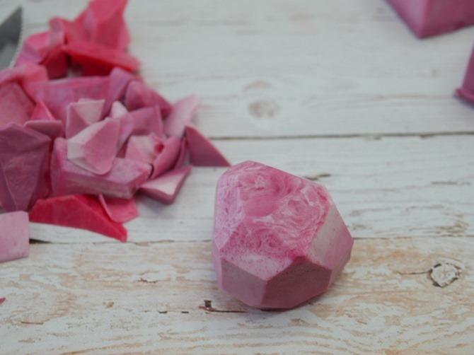 DIY Gemstone Soap - Trim