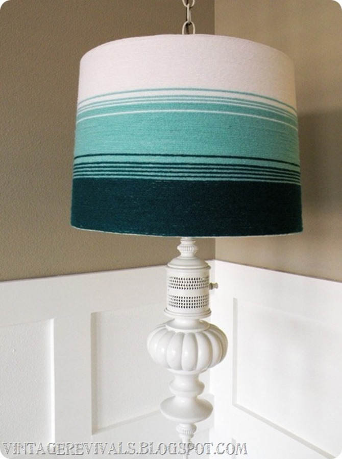 DIY Yarn Decor - Lamp