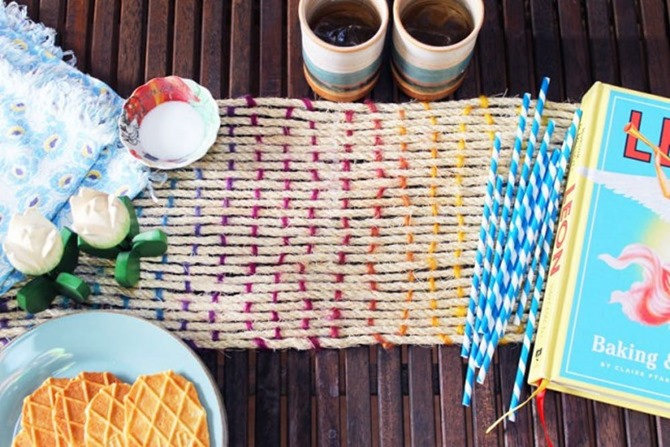DIY Yarn Decor - Table Runner