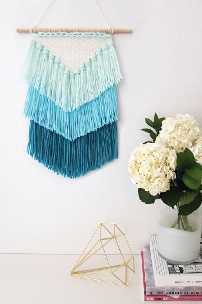 DIY Yarn Decor - Weaving Wall Art