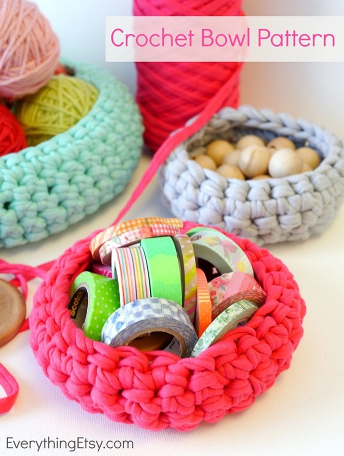 DIY Yarn Decor - Yarn Baskets